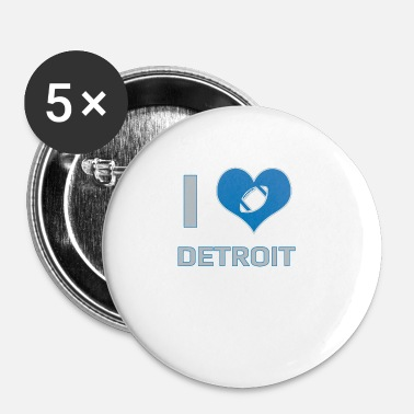 Détroit J'adore Detroit - Badge petit 25 mm
