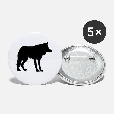Grey wolf - Small Buttons