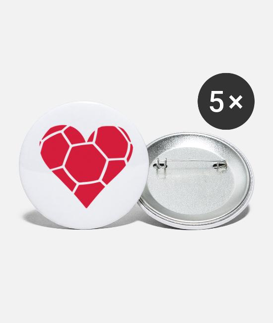 Heart Buttons - Handball Herz - Small Buttons white