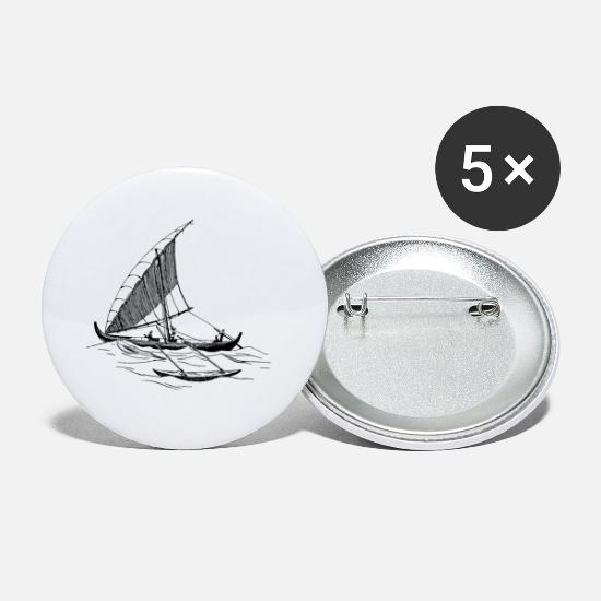 Sailboat Buttons - paddle boat sail boat rowing boat sailboat42 - Small Buttons white