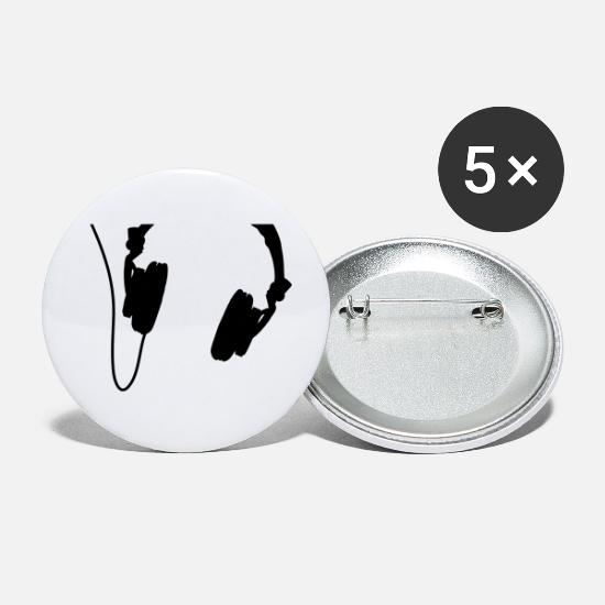 Cd Buttons - headphones_vector - Small Buttons white