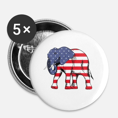 United United elefant - Buttons/Badges lille, 25 mm