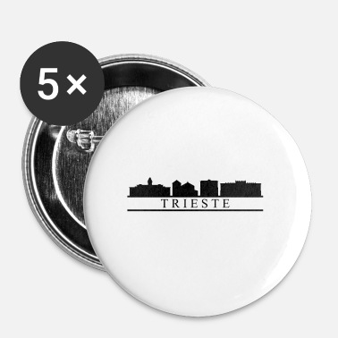 Triest trieste skyline - Buttons klein 25 mm (5-pack)