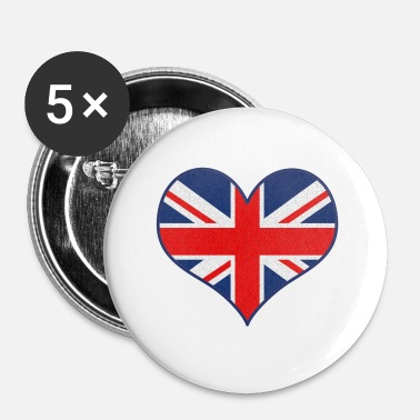 Uk J'AIME UK - Badge petit 25 mm