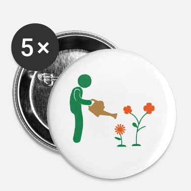 Tuin tuin - Buttons klein 25 mm (5-pack)