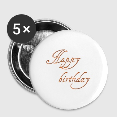 happy birthday - Buttons klein 25 mm