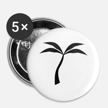 Palmbomen Black palmboom idee - Buttons klein 25 mm (5-pack)