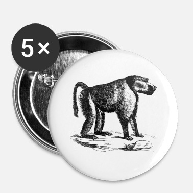 Chimpanse Chimpanse - Buttons/Badges lille, 25 mm