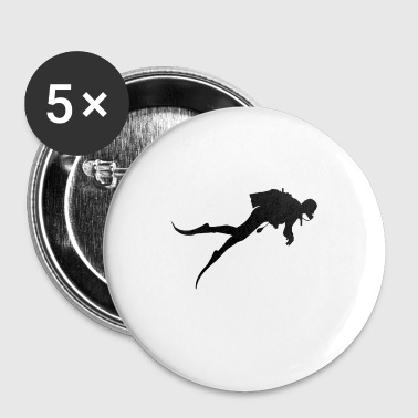 plongeur - Badge petit 25 mm