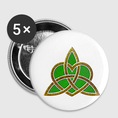 St. Patricks Day Triquetra Heart Wiccan heidense symbool - Buttons klein 25 mm