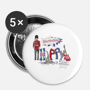 Happy Birthday Happy Birthday Storbritannien - Buttons/Badges lille, 25 mm