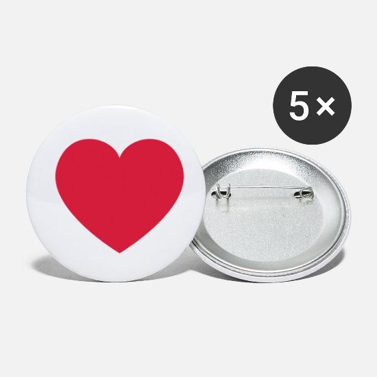 Love Buttons - Heart Heart - Small Buttons white