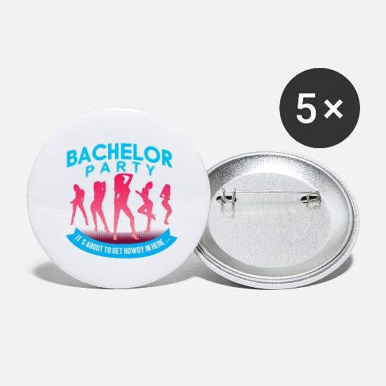 Bride Buttons - Bachelor & Bachelorette Party - Small Buttons white