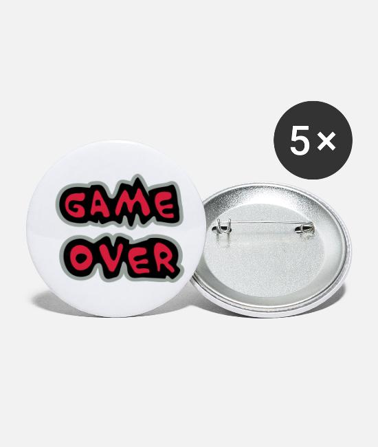 Noob Badges - Game Over - Petits badges blanc