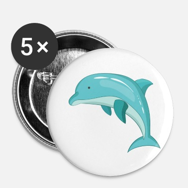 Pattedyr Dolphin pattedyr marine dyr - Buttons/Badges lille, 25 mm