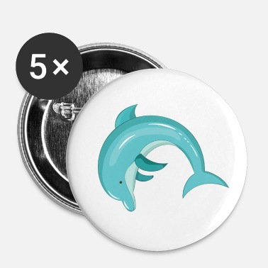 Pattedyr Dolphin pattedyr - Buttons/Badges lille, 25 mm