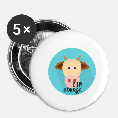 Officialbrands Cowabunga koe Tshirt - Buttons klein 25 mm