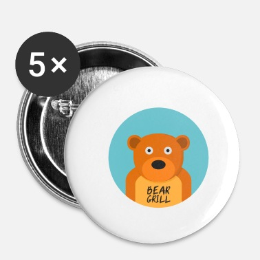 Officialbrands Bear Grill T-shirt - Buttons klein 25 mm
