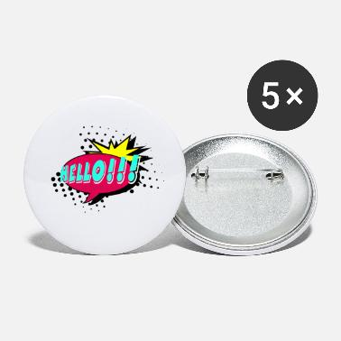 Speech Balloon Speech bubble, speech balloon, pop art, text bubble - Small Buttons