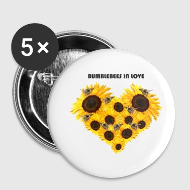 Bumblebee Loved bumblebees - Buttons small 25 mm