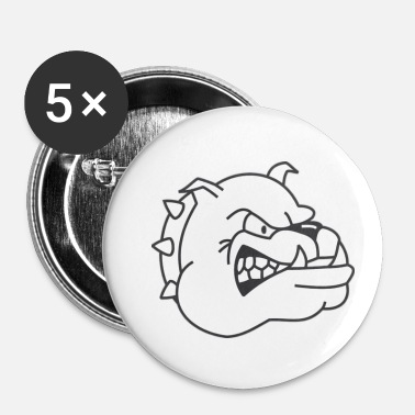 Agressif chien, chien, agressif, sauvage - Badge petit 25 mm