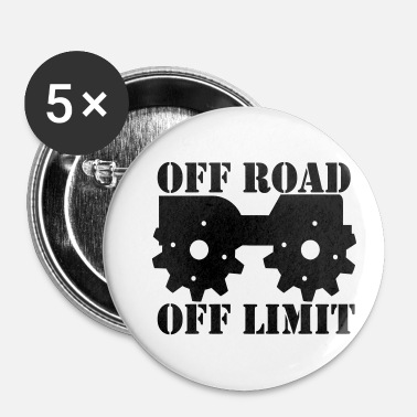Off Off Road Off Limit - Buttons klein 25 mm (5-pack)