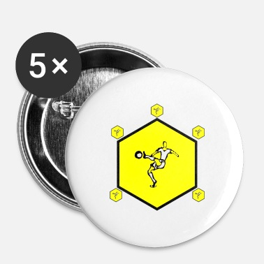 Hexagone hexagone - Badge petit 25 mm