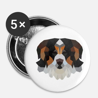 Border Collie Border Collie - Lot de 5 petits badges (25 mm)