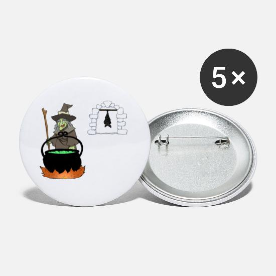 Birthday Buttons - Halloween Witch Witch Gift Tomb Walpurgis Night - Small Buttons white
