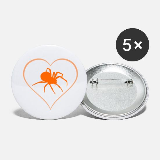 Toxic Buttons - spider - Small Buttons white