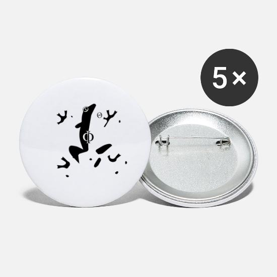 Greek Buttons - Phi - Small Buttons white