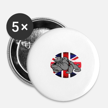Union Jack Bouledogue avec union jack - Badge petit 25 mm
