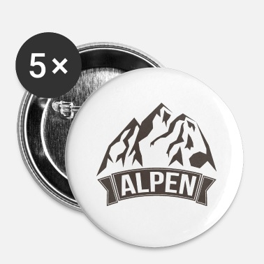 Alperna Alps - Små knappar 25 mm (5-pack)