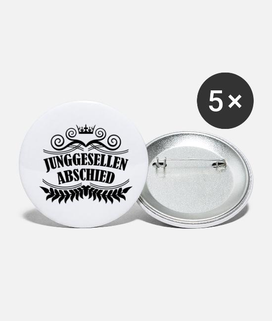 Bachelorette Buttons - junggesellenabschied - Small Buttons white