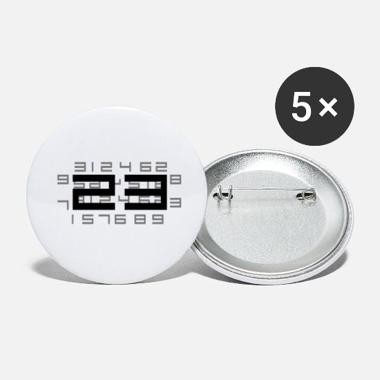 Twentythree Buttons - 23 black riddle - Small Buttons white