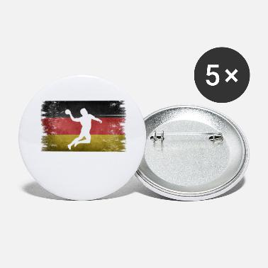 Tain Handball player Germany retro flag - Small Buttons