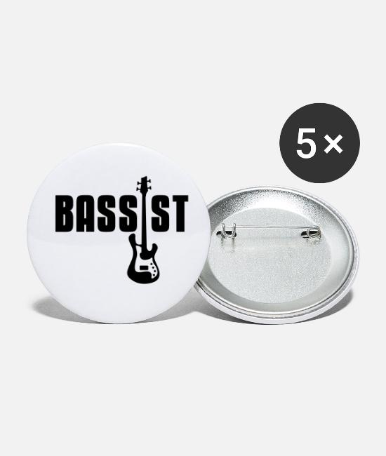 Bassist Buttons - bassist - Buttons klein wit