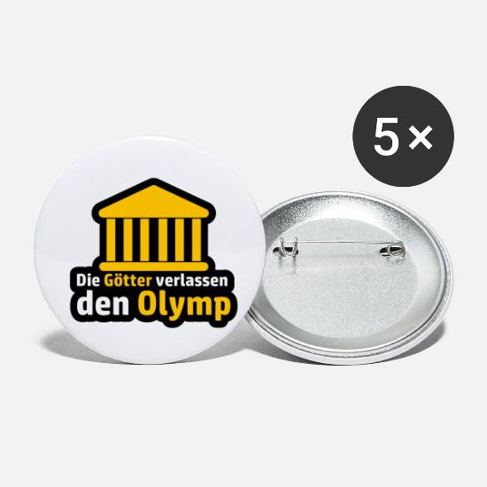High School Senior Buttons - The gods leave the Olympus Abitur saying - Small Buttons white