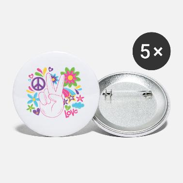 Movement Peace World Peace Flower Power Gift 70s Love - Small Buttons
