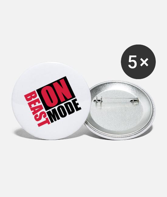 Training Buttons - Beast-Mode On Logo - Small Buttons white