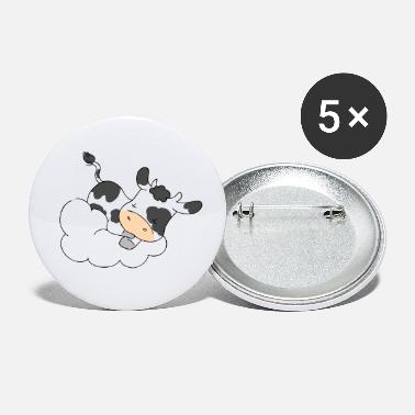 Cloud Cow Sleeping on Cloud - Buttons klein