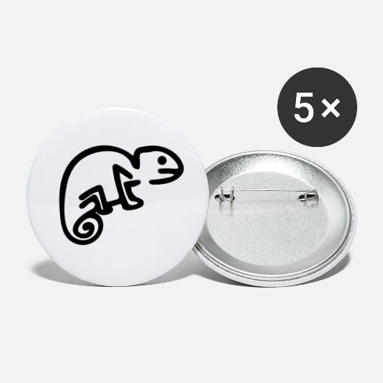 Pond Buttons - chameleon - Small Buttons white