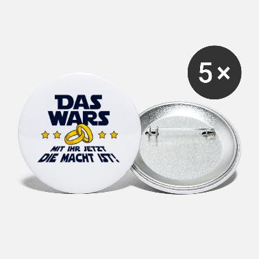 Groom The Wars saying wedding bachelor party - Small Buttons