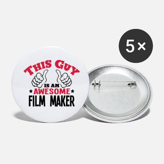 Filmmaker Buttons - this guy is an awesome film maker 2col - Small Buttons white