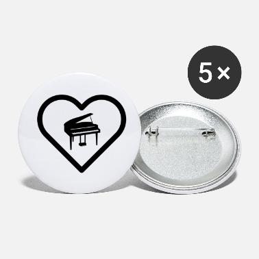 Key Heart piano piano pianist player music grand piano - Small Buttons