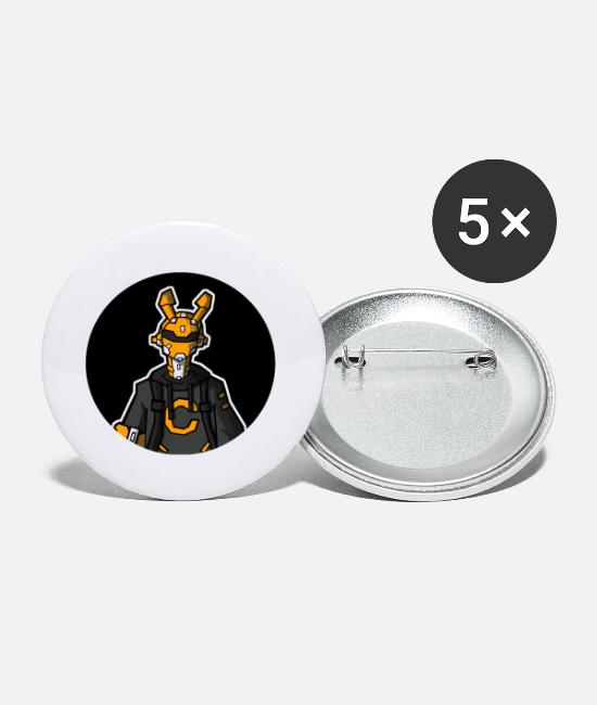 Movie Badges - Robot - Petits badges blanc