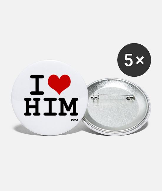 Love Buttons - him - Small Buttons white