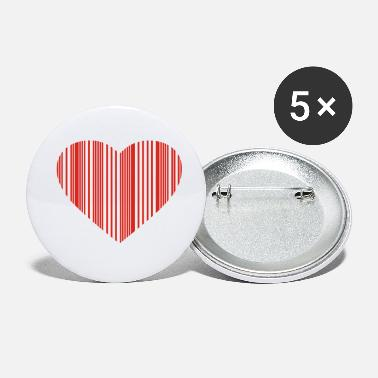 Cuore barcode love - Small Buttons