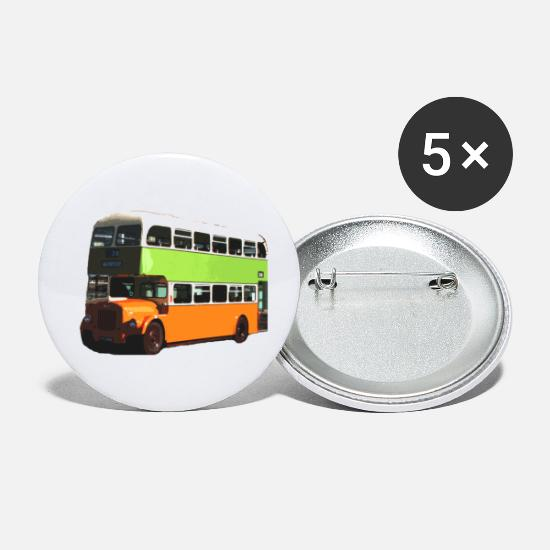 Public Transportation Buttons - Glasgow Corporation Bus - Small Buttons white