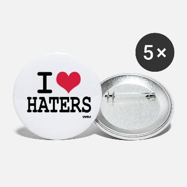 I Love Haters i love haters by wam - Small Buttons